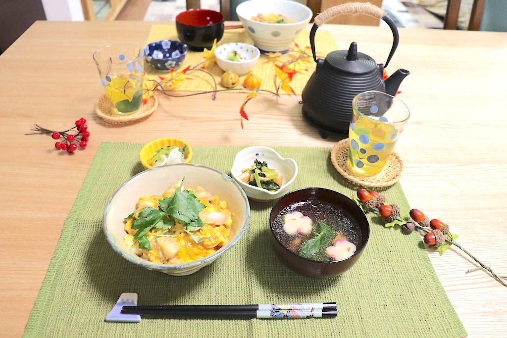 マンツーマン和食料理教室で作った一汁三菜の写真