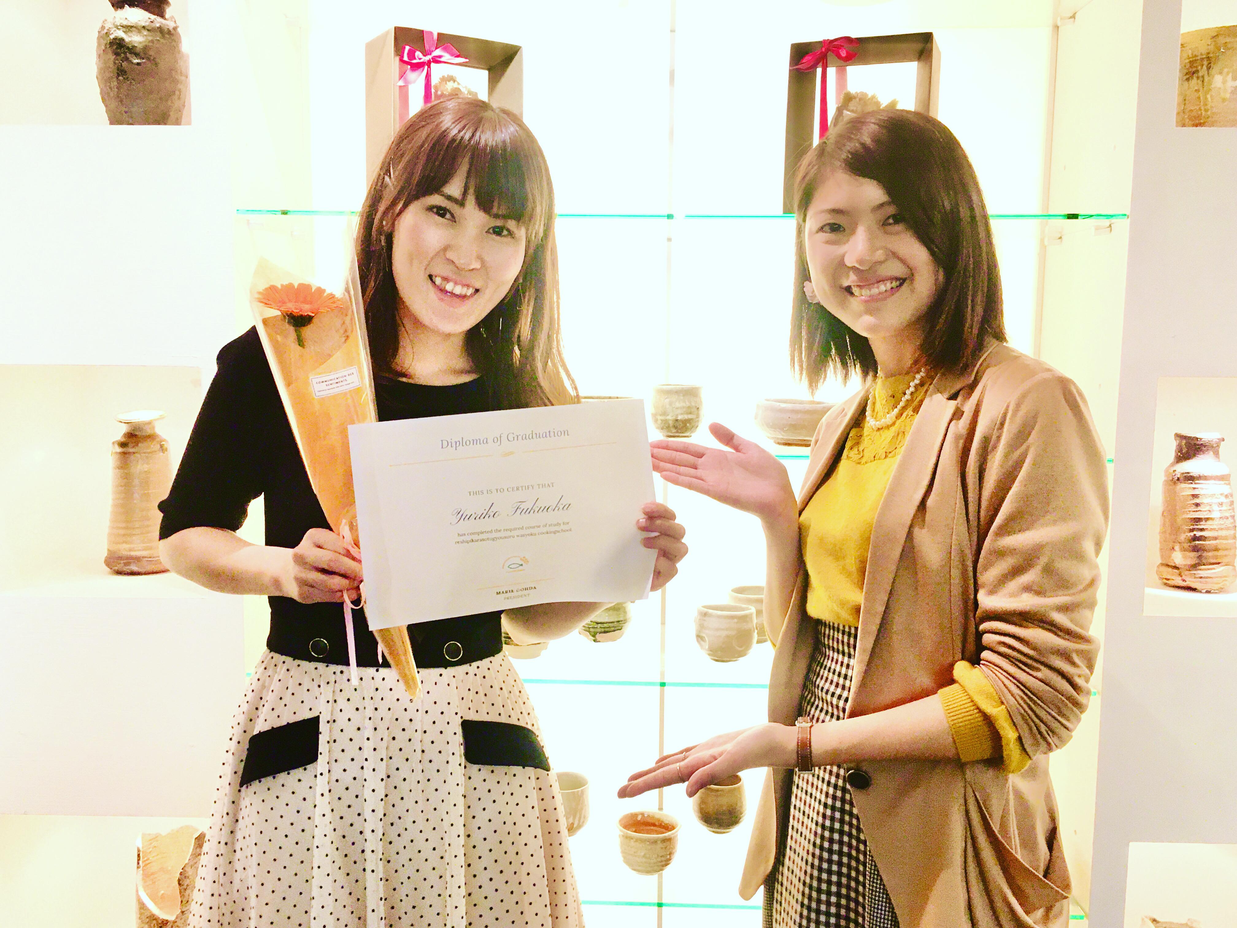 レシピから卒業する和食料理教室短期集中3ヶ月コースご卒業(//∇//)!